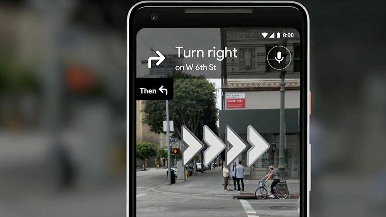 Google Maps to Improve Walking Navigation with AR Fox and Giant Arrows | All3DP