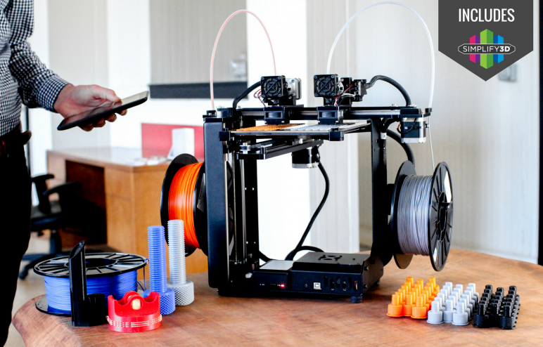 Image of Dual Extruder 3D Printer: Makergear M3-ID Rev. 1