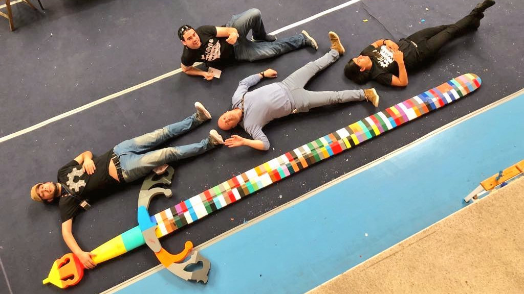 3D Printer Party Breaks Guinness World Record, 3D Prints 4.8 Meters Sword | All3DP