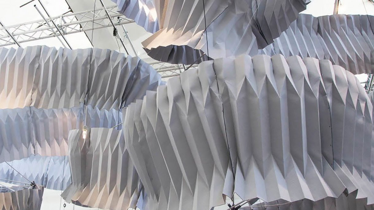 This Folded Sculpture Captures the Pollution from the Air | All3DP