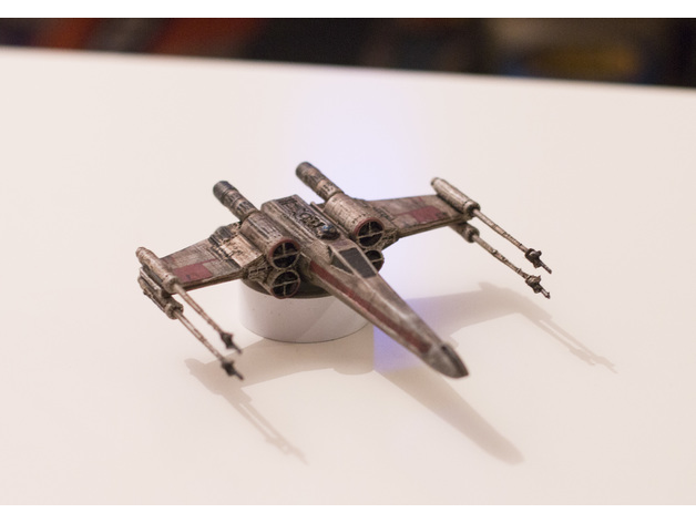 Image of Star Wars 3D Models to 3D Print: 3D Printed X-Wing Starfighter