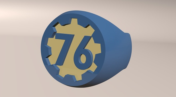 Image of Fallout Props & Toys to 3D Print: Fallout 76 Ring