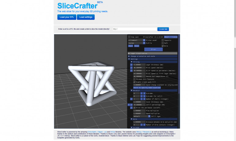 Image of 3D-Drucker-Software kostenlos: SliceCrafter