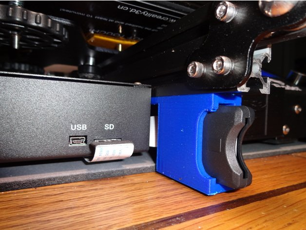 Image of Creality Ender 3 Upgrades and Mods: Micro SD to SD Card Holder