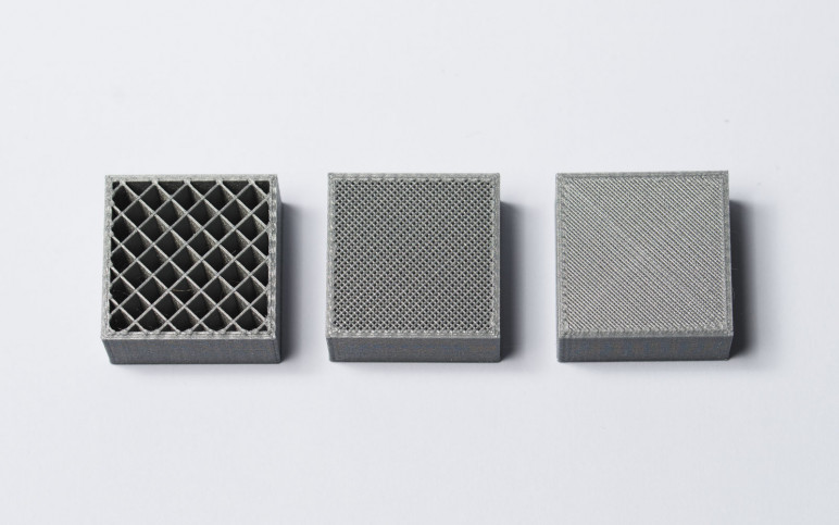 Different infill densities of the same pattern