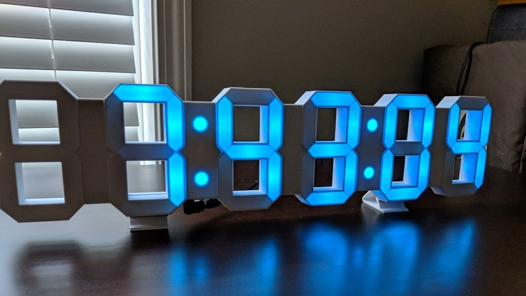 Projet 3D du week-end : imprimez une horloge LED à 7 segments | All3DP