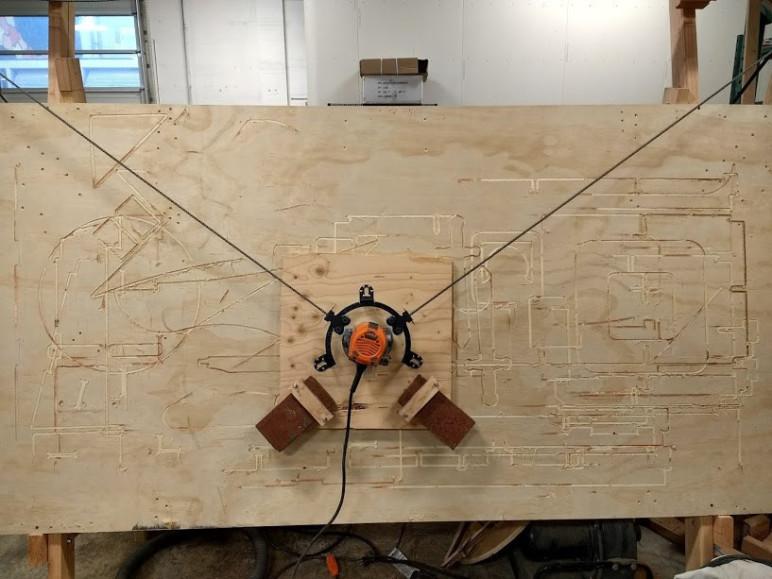 Image of CNC-Fräse-Bausatz: Maker Made CNC Maslow CNC