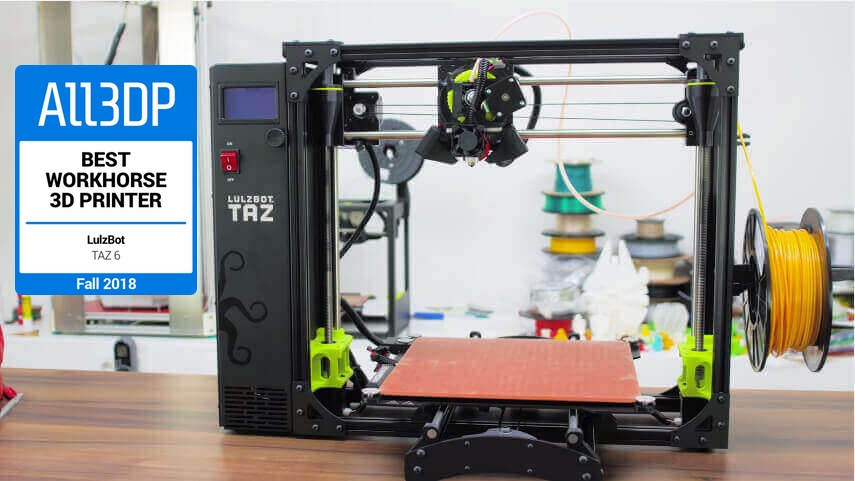Featured image of Lulzbot TAZ 6 Review – Best Workhorse 3D Printer in 2018