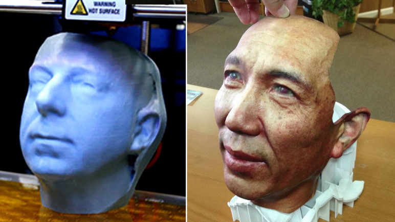 3D printed faces