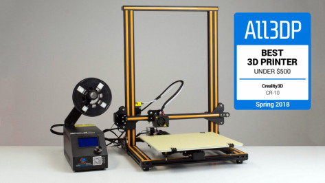 Featured image of 2018 Creality CR-10 Review – Best 3D Printer Under $500