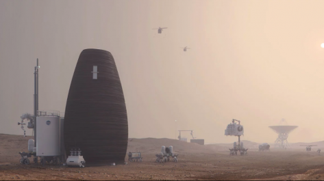 Featured image of NASA-Awarded MARSHA Project Aims to 3D Print Egg-Shaped Structures on Mars