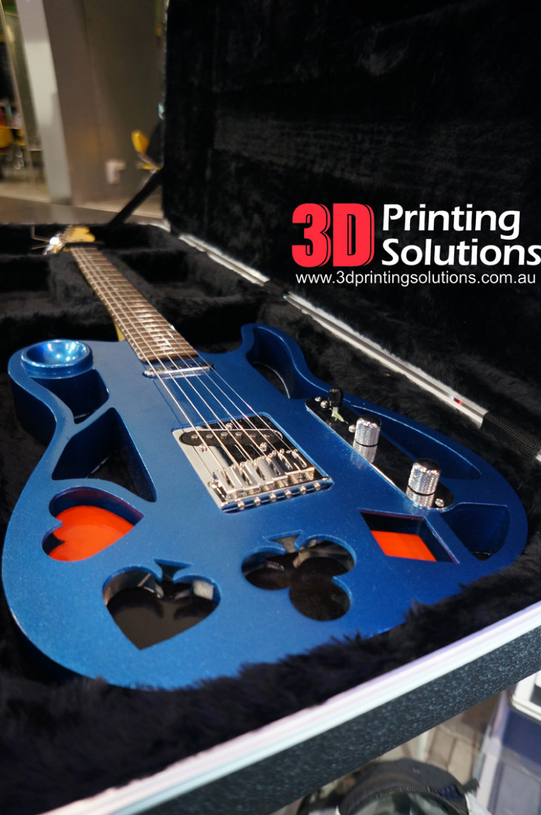 3d printed guitar 10 best curated models to 3d print all3dp. Black Bedroom Furniture Sets. Home Design Ideas