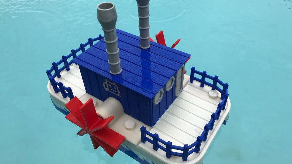 [Project] Make a Summer Splash with this 3D Printed WiFi Paddle Boat | All3DP