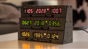 Featured image of Weekend Project: Turn Back Time with a 3D Printed Delorean Clock From 'Back to the Future'