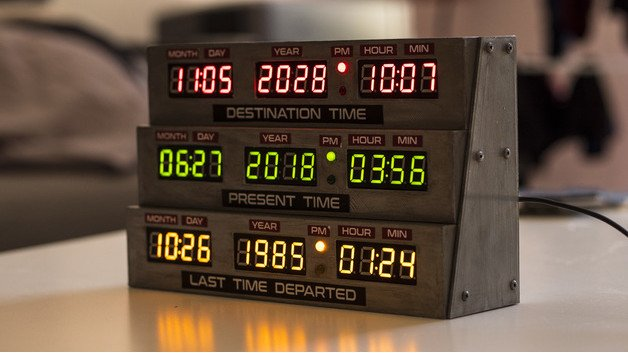 [Project] Turn Back Time with a 3D Printed Delorean Clock From 'Back to the Future' | All3DP
