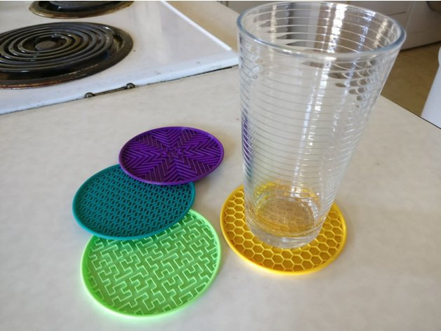 Image of Cool Things to 3D Print: Infill Coasters
