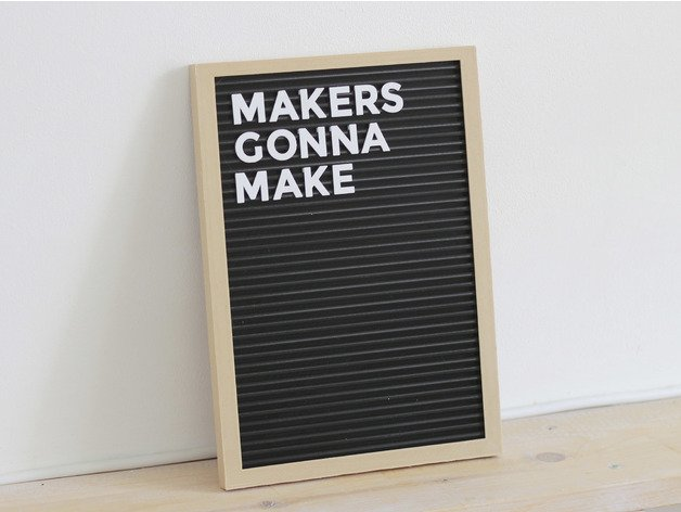 Image of Cool Things to 3D Print: Letter Board