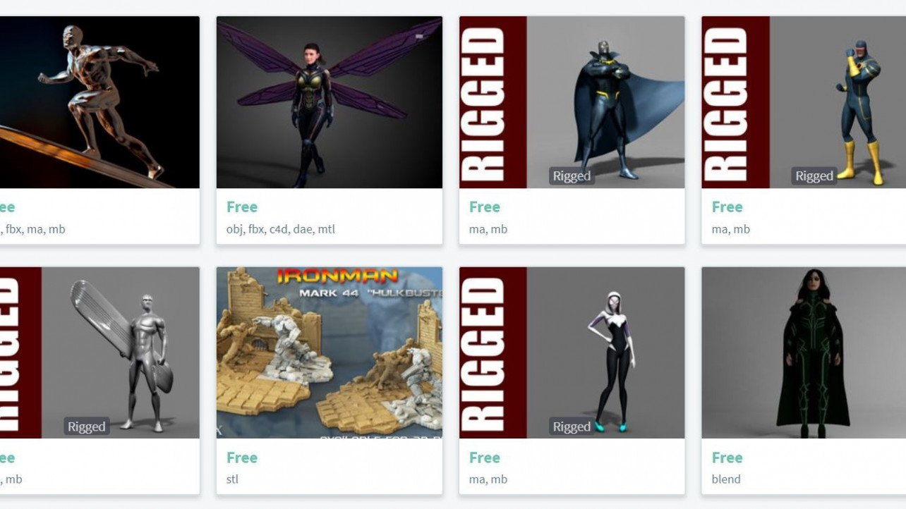 Free 3D Character Models - 6 Best Sources of 2018 | All3DP