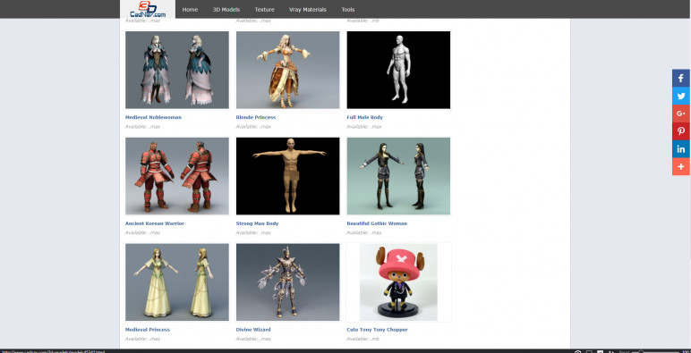 300 free 3D character models to choose from.