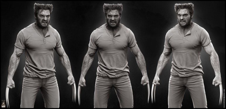 This 3D model of Wolverine would make an awesome addition to your desk.