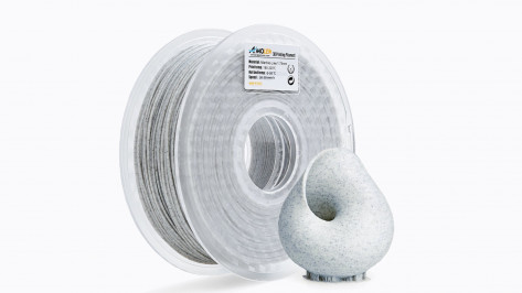 Featured image of Amolen Marble-Like White PLA Filament Review