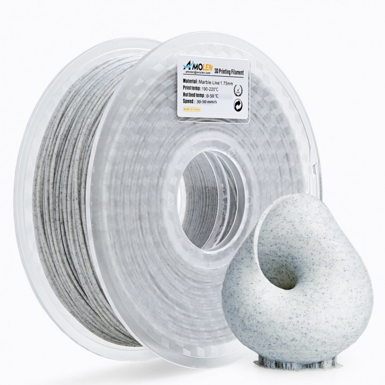 Image of Amolen Marble PLA Review: Specs and Settings