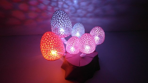 [Project] Get Groovy with 3D Printed LED Magic Mushrooms | All3DP