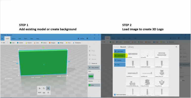 3D Builder - Load Image.