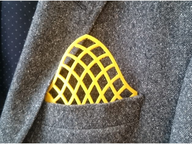 Stand out with this alternative pocket square.