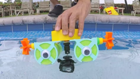 Featured image of Weekend Project: Have a Pool Party with this 3D Printed Cricket Paddle Wheel Boat