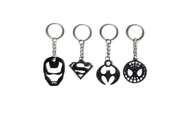 Image of Cool Things to 3D Print: Superhero Keychains