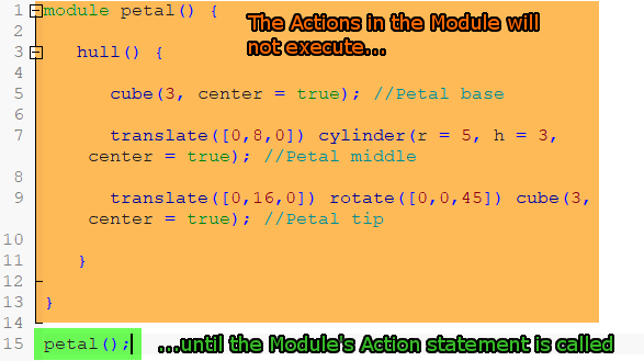Image of: OpenSCAD Modules: Using Your Custom Modules