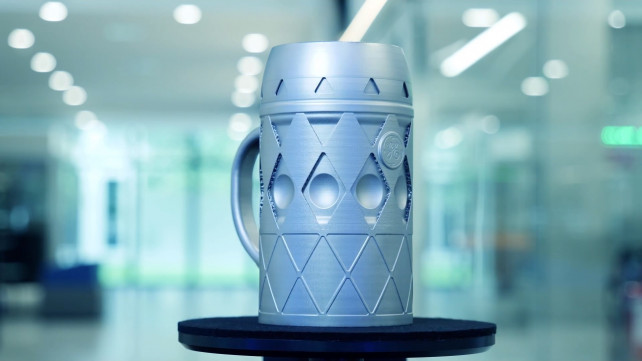 Featured image of GE Additive Honors Oktoberfest with 3D Printed Titanium Beer Stein