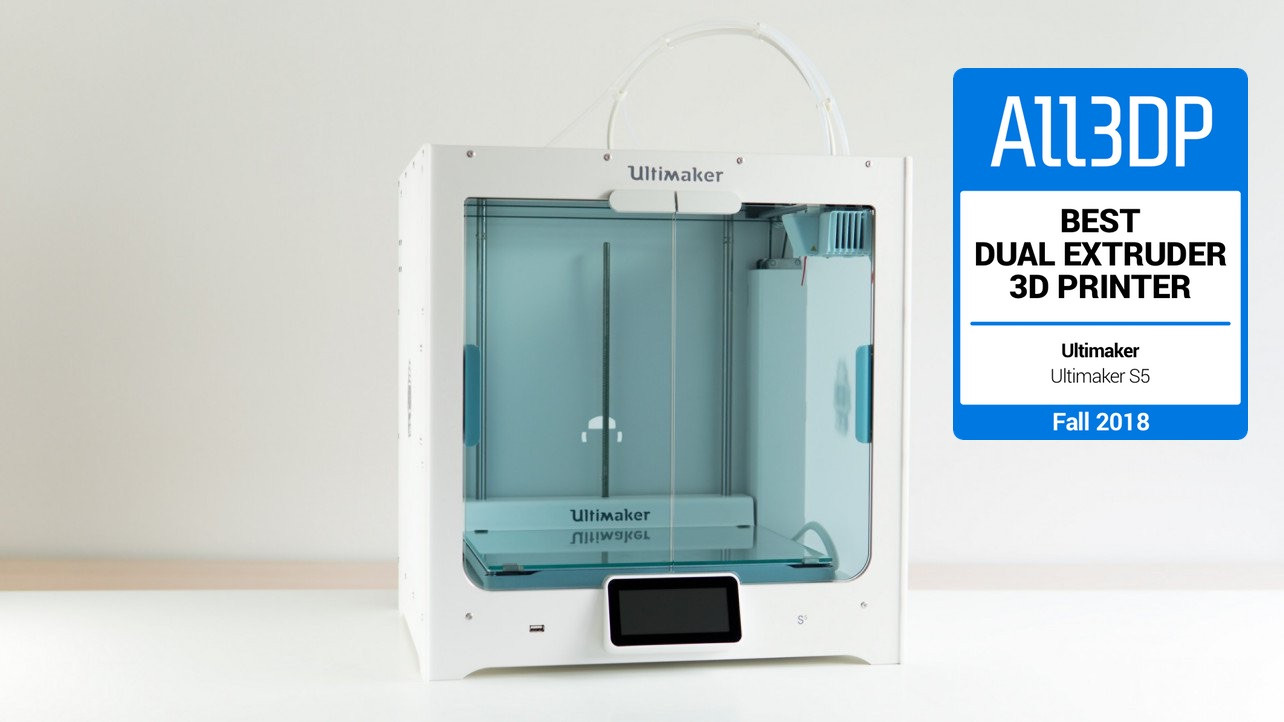 Featured image of 2018 Ultimaker S5 Review – Best Dual Extruder 3D Printer