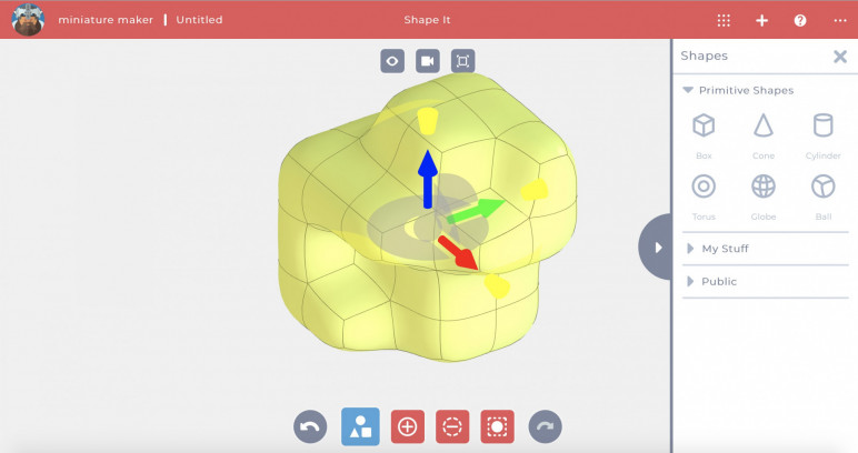 A screenshot from Solidworks's Shape it app