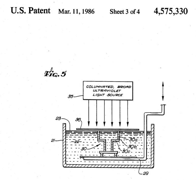 A figure of the patent filed by Hull.