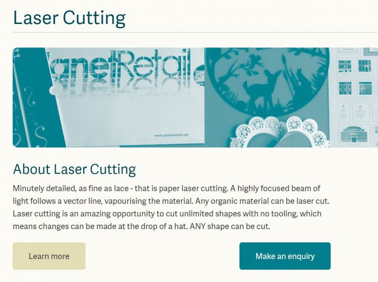 Image of: Laser Cutting Paper Services