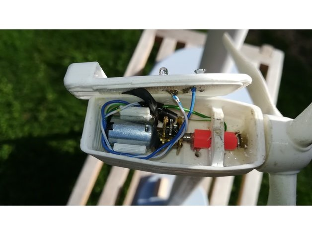 This is a photo of 3d Printable Wind Turbine inside lenz2