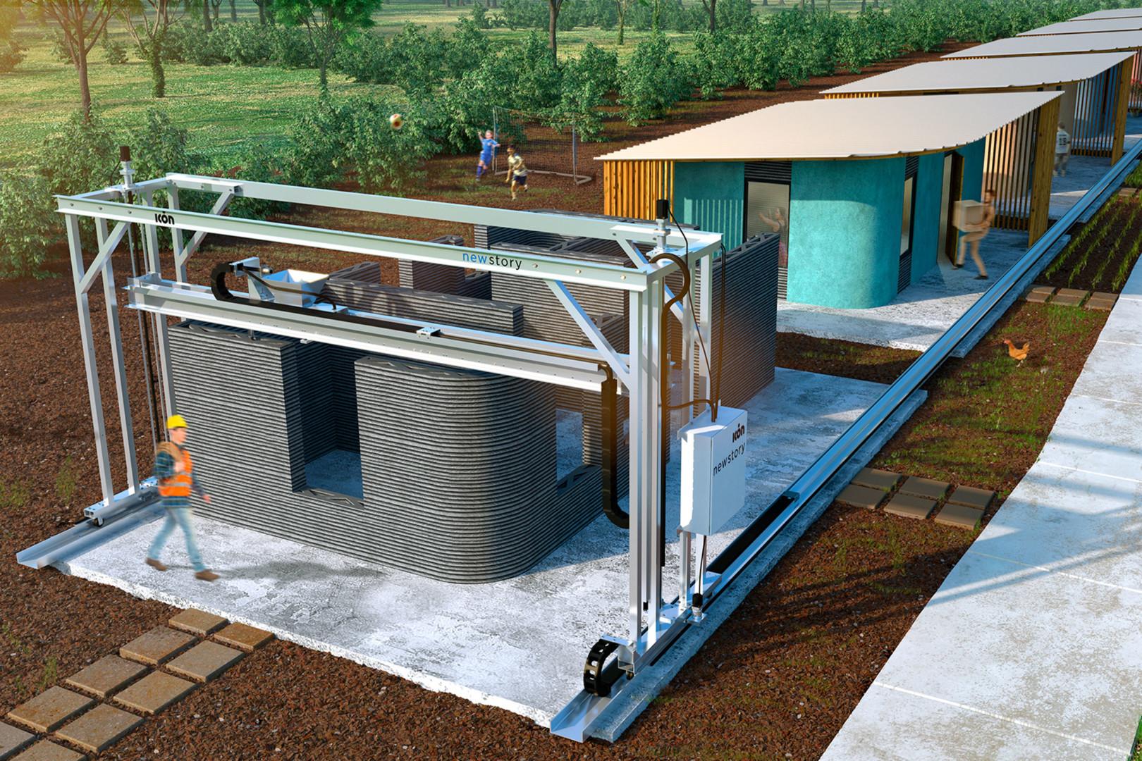 Un modello che mostra con quanta facilità le case possono essere stampate in 3D.