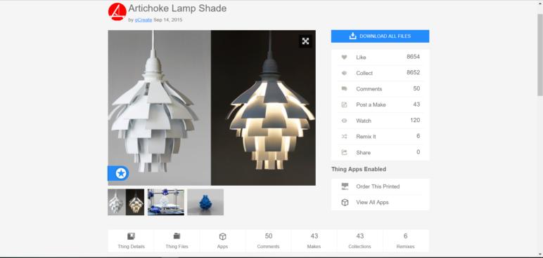 Artichoke Lamp by gCreate.