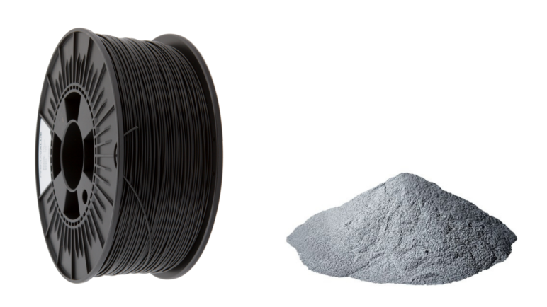 FDM filament and SLS powder.