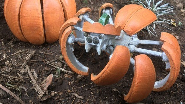 [Project] 3D Print a Creepy-Crawling Halloween Pumpkin Spider Transformer | All3DP