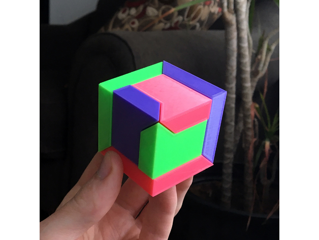 The assembled cube.