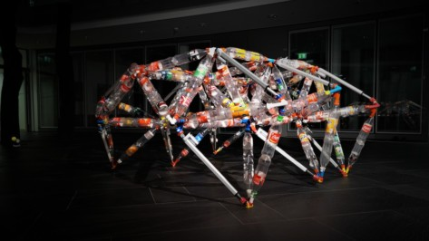 Featured image of TrussFormer Creates Large-Scale Kinetic Structures Made From Plastic Bottles and 3D Printed Connectors