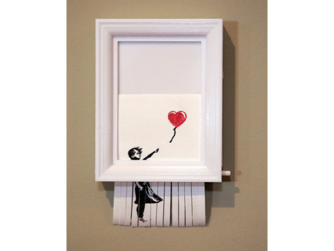 "Featured image of Projet 3D du week-end : jouez les Banksy avec la réplique autodestructrice de ""Love is in the Bin"""