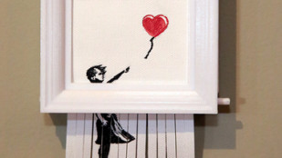 "Featured image of Weekend Project: Become Banksy With This 3D Printed Replica of the Self-Destructing ""Love is in the Bin"""