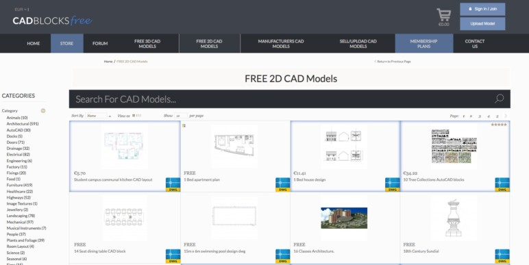 2019 Best Sites To Download Free CAD Blocks