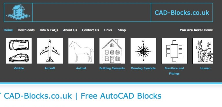 Image of 14 Best Sites to Download Free CAD Blocks: CAD Blocks.co.