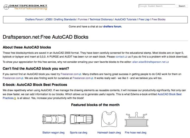 Image of 14 Best Sites to Download Free CAD Blocks: Draftsperson