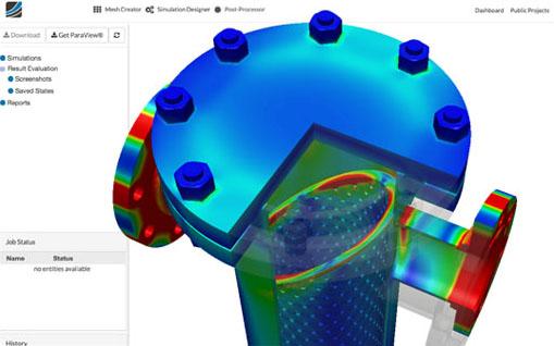 Heat transfer within a digital prototype.